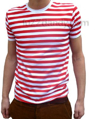Mens Stripey Tee (red & white t-shirt)